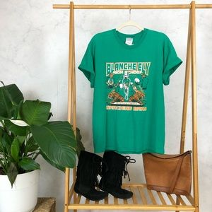 Vintage Green Marching Band Distressed Graphic Tee